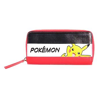 Pokemon Purse Pikachu Striped Logo new Official Nintendo Zip Around