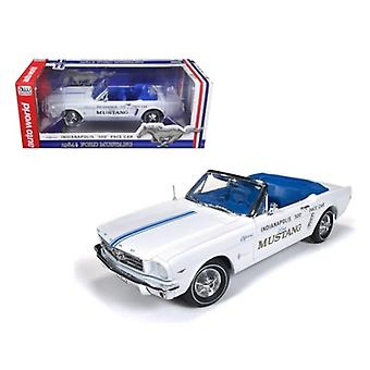 1964 1/2 Ford Mustang Cabriolet 289 V8 Indy 500 Pace Car Limited auf 1500pc 1/18 Diecast Modellauto von Autoworld