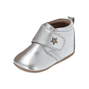 Bisgaard baby star home shoe kids sneakers silver turn shoes sport running shoes