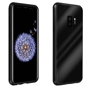 Silicone case + back cover in polycarbonate for Samsung Galaxy S9 Plus – Black
