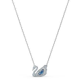 COLLIER Swarovski 5533397-sølv sølv krage Swan Strass og Crystal Blue kvinner