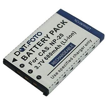 Dot.Foto Casio NP-20, akumulator NP-20DBA - 3, 7V / 680mAh
