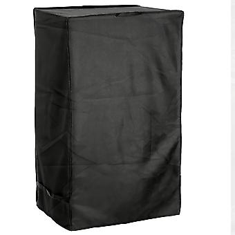 """Outdoor Smoker Grill Cover - 25""""W x 17""""D x 39""""H - Electric, Propane, Pellet, or Charcoal BBQ Smoker Cover - UV Protected, and Weather Resistant Storage Cover - Black"""
