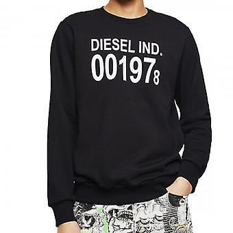 Diesel S-Girk-J3 Crew Neck Logo Sweatshirt Black