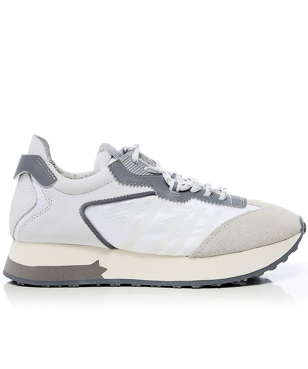 Ash Leather Tiger Trainers