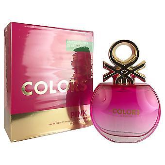Benetton colors pink for women by benetton 2.7 oz eau de toilette spray