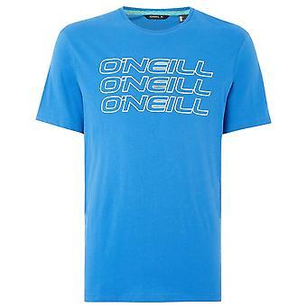 O'Neill Triple Logo T-paita, Ruby Blue