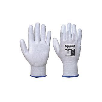 Portwest antistatic pu palm workwear safety gloves a199