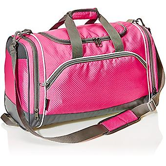 AmazonBasics Small Lightweight Durable Sports Duffel Gym and, Pink, Size Small