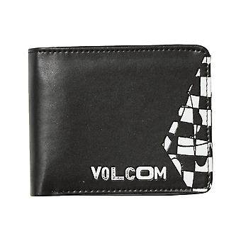Volcom 3 In 1 Faux Leather Wallet in Black Combo