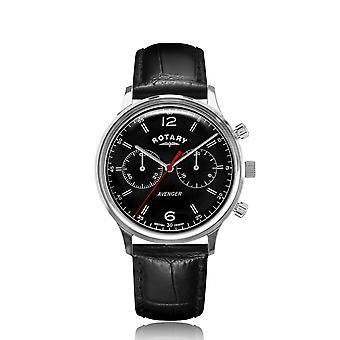 Rotary GS05203-04 Black Dial Avenger Cronógrafo Reloj de pulsera