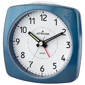 ATRIUM alarm clock Analog quartz blue metallic A251-5 without ticking with light and snooze