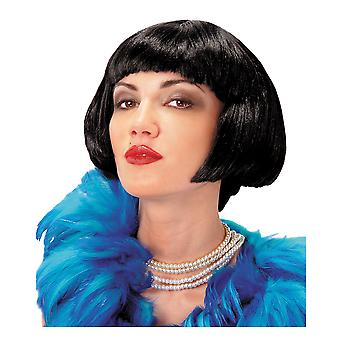 Flapper 1920s Gatsby Gangster Black Bob Charleston Women Costume Wig