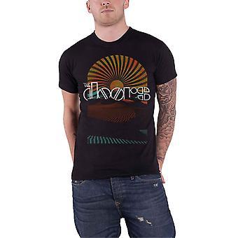 The Doors T Shirt Daybreak band logo vintage new Official Mens Black