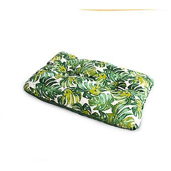 Ferribiella Rect.Tropical Pillow L 90X62Cm 1Pcs Gree (Katzen , Erholung , Betten)
