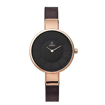 Obaku Sol Walnut Women's Wristwatch V149LXVNMN