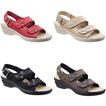 Fleet & Foster Womens/Ladies Amaretto Touch Fastening Leather Sandals