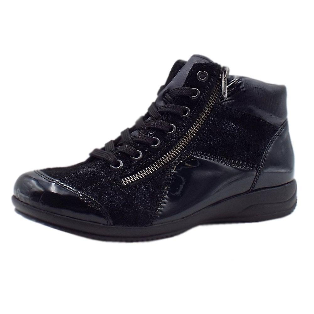 Rieker L3633-14 Asana Sporty Ankle Boots In Blue 1qRwQ