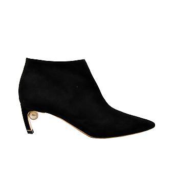 Nicholas Kirkwood Mirapearllowbooti Women-apos;s Black Suede Ankle Boots