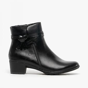 Heavenly Feet Annie Ladies Ankle Boots Black