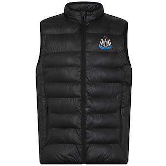 Newcastle United FC Officiel Football Gift Mens Padded Body Warmer Gilet