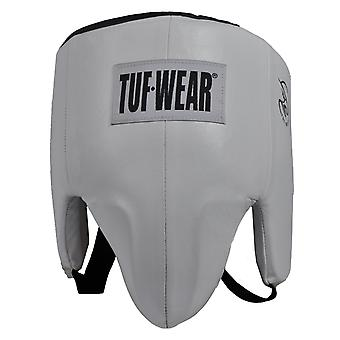 Tuf Wear Leather Pro Style Groin Guard White