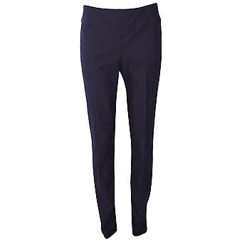 Up! Navy Blue Thincredible Slim Fit Pull On Trousers