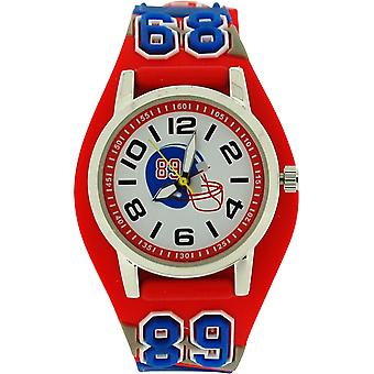 Ravel Boys - Kids American 3D Football Watch With Red Grey & Blue Strap R1521.10