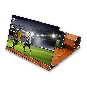 Universele 12 inch houten opvouwbare scherm vergrootglas afbeelding vergroten desktophouder voor mobiele telefoon