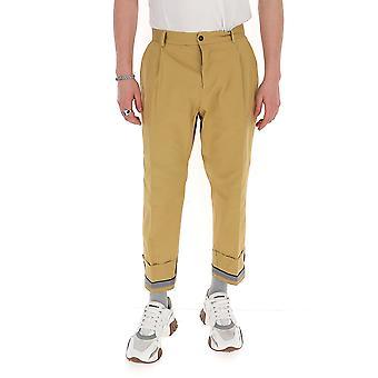 Corelate 263a202623 Men's Beige Cotton Pants