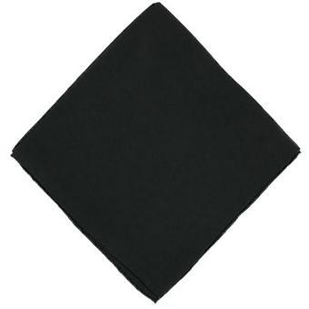 Michelsons of London Plain Silk Handkerchief - Black