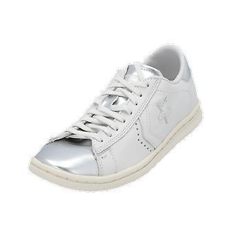 Converse PRO LEATHER LP OX Damen Sneaker Grau Turn-Schuhe Sport Lauf Schuhe