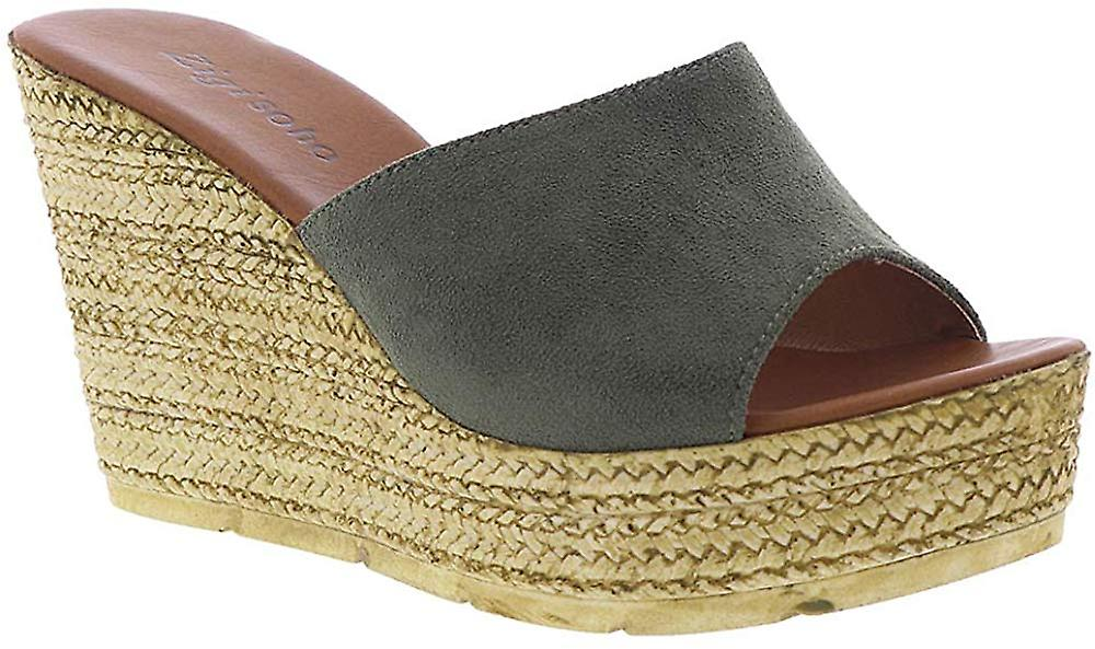 Zigi Soho Womens ZG17181-01 Suede Peep Toe Casual Espadrille Sandals