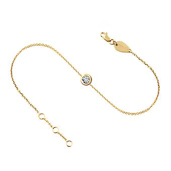 Anklet Diamond Solitaire 0.20 carat and 18K Gold - Yellow Gold