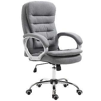 Vinsetto Office Chair Ergonomic Executive Style Home Work Extra Padded w/ Swivel Base 5 Wheels Grey