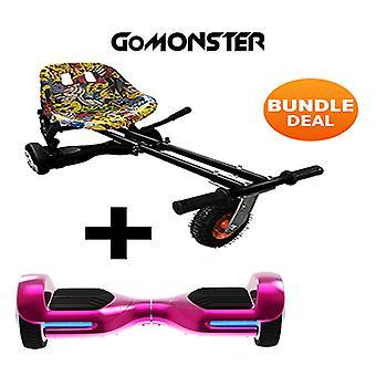 6.5-quot; G PRO Pink Chrome Bluetooth Hoverboard et Monster Hoverkart dans Hip Hop