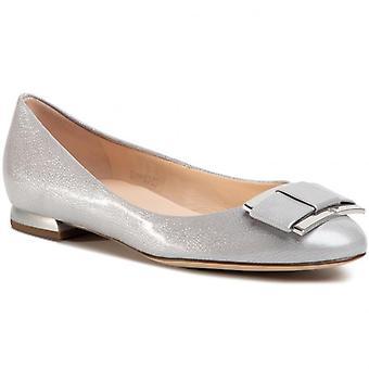 Hogl harmonie zilveren ballerina's dames zilver