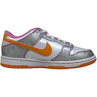 Nike Dunk Low White/pink-silver 309601-173 Grade-School