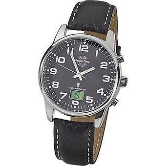 Radio Wristwatch MTGA-10681-21L (Ø) 41 mm Silver Enclosure material=Metal Material (watch strap)=Leather