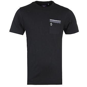 Luke 1977 Jonas Knees Pipe Detail Black T-Shirt