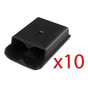10x Xbox 360 Wireless Controller Black Battery Cover Pack Shell