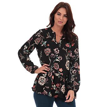 Women's Jacqueline de Yong Ruby Floral Print Tunic in Black