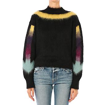 Off-white Owhe036e20kni0011084 Women's Black Wool Sweater