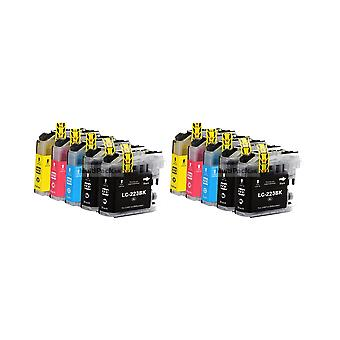 RudyTwos 2x Replacement for Brother LC-223 Set Ink Unit Black Cyan Yellow & Magenta (4 Pack) Compatible with DCP-J4120DW, DCP-J562DW, MFC-J4420DW, MFC-J4620DW, MFC-J4625DW, MFC-J480DW, MFC-J5320DW, MF