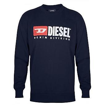 Diesel Navy Logo Sweatshirt