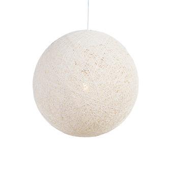 QAZQA pendentif lampe Corda 60 blanc