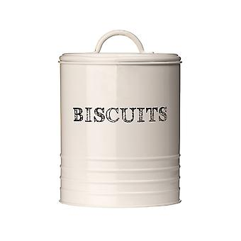 Sketch Cream Biscuit Canister