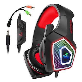 Hunterspider V1 Gaming Headset Stereo Earphone Headphones with Microphone for PlayStation 4 / PC / Xbox Red