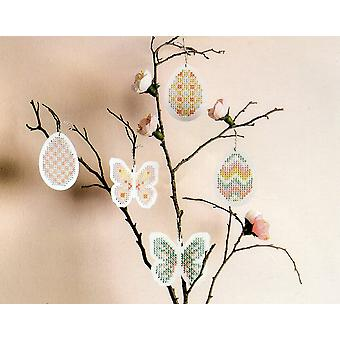 8 Butterfly & Easter Egg Shaped Embroidery Cross Stitch Boards for Crafts