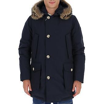 Woolrich Woou0270mrut0108mlb Men's Blue Nylon Outerwear Jacket